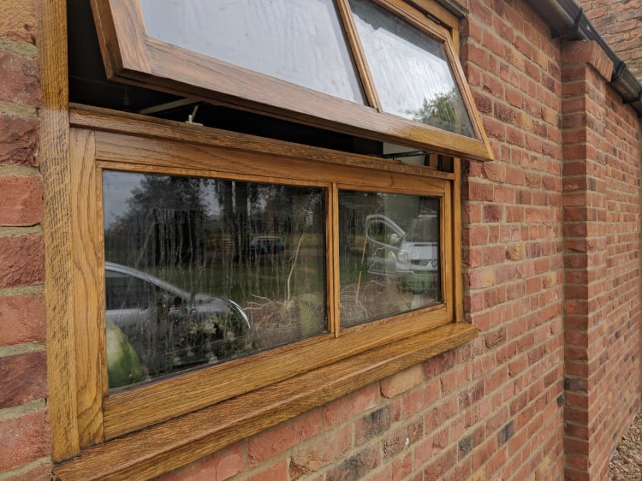 External redecoration of oak windows